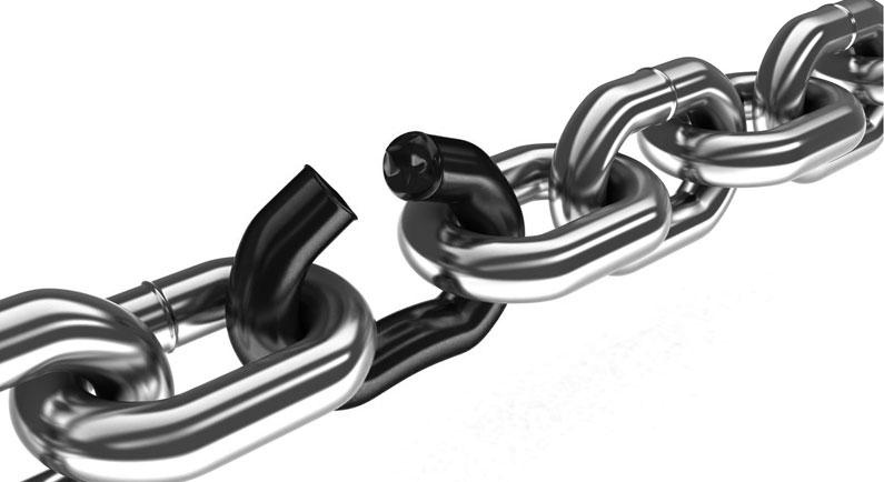 Stahlkette mit offenem Bindeglied