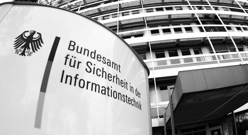 Eingangsschild vom Bundesamt für Sicherheit in der Informationstechnik