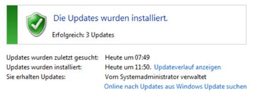 Bild 1: Windows ist der Meinung alle Updates wären installiert…