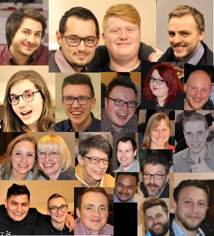 Collage aus Porträts der mod-IT-Mitarbeiter