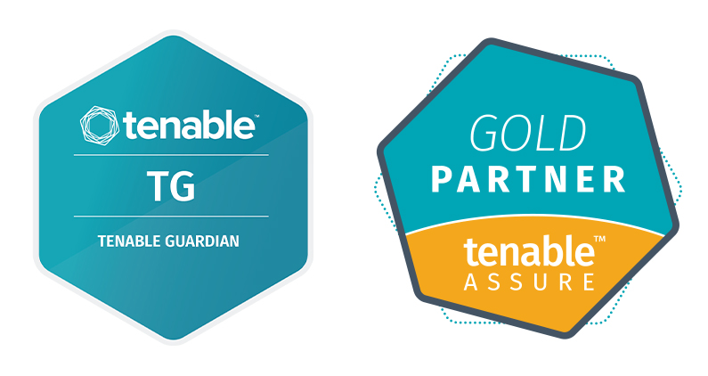 Logos tenable Guardian und tenable Gold Partner