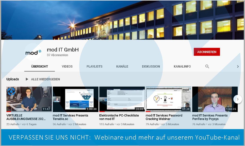 Startbild mod-IT-YouTube-Kanal