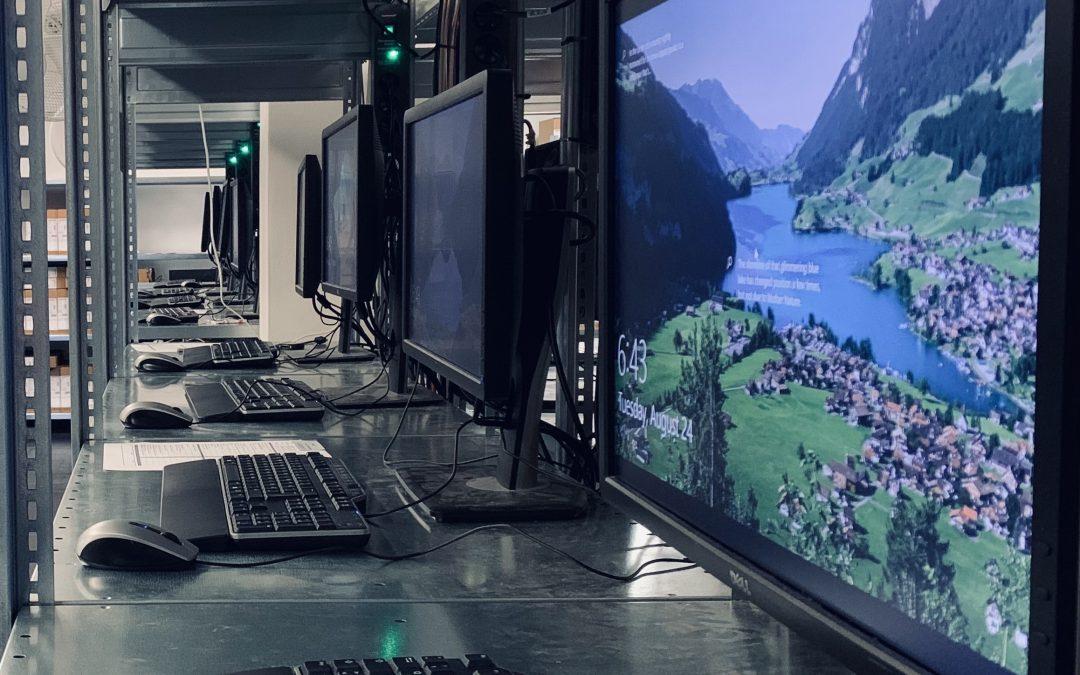 So schnell kann's gehen: Die PC-Betankungsstraße für sichere, direkt einsatzbereite Geräte in Unternehmen